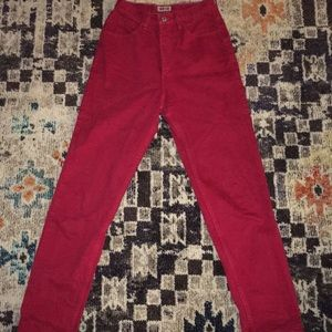 Vintage High waisted red Guess pants